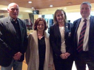 Captains Brendan & MaryLou with John & Teresa O'Mahony at the new members evening.