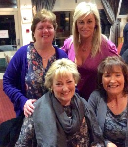 Teresa Giff, Anne King, Catherine Mullins & Bernie Kearney at the new members night in Dundalk Golf Club.