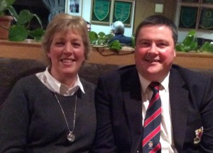 Captain Brendan with his wife Siobhan who joined Dundalk Golf Club recently.