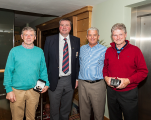 Eddie Rogers (Category 1 - 1st), Captain Brendan Keane, George Rogers (2nd) and Peter Rogers (Gross).