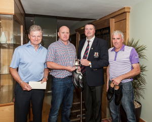 Peter Rogers (Gross winner), Fergus O'Callaghan (Winner), Captain Brendan Keane and Jim Rowland (Third).