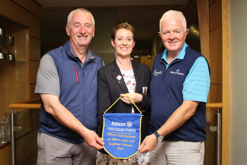 Captains Criona, Pat and Hon Sec Sean win Officers Golf