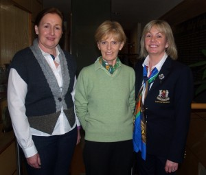 Ger Henry ILGU with Lady Captain Anne and Lady Vice Captain MaryLou.