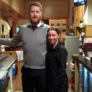 Bar Managers David & Lisa looking after everyone at the new members night in Dundalk golf club.