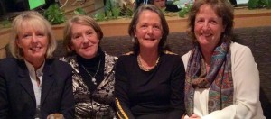 Committee member Alison Quigley welcomes new members Nuala Henry, Oonagh Quinn & Mary
