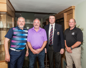 Clem Walshe (First Category 1), Tommy Renaghan (First Category 2), Captain Brendan Keane and Patsy Arrowsmith (First Category 3)