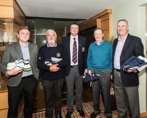 Richard Copas (Category 2), Michael O'Keeffe (Category 2), Captain Brendan Keane, Denis Ryan (Category 3) and Barry Grennan (Overall winner Sunday qualifier).