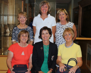 Overall Winners - Front left to right: Runner up Joan Corrigan, Lady Captain Jean Connolly, Winner Marie McKell. Back Left to right: Fourth Maura Hackett, Overall Gross Deirdre Smith, Third Mary Dooley.